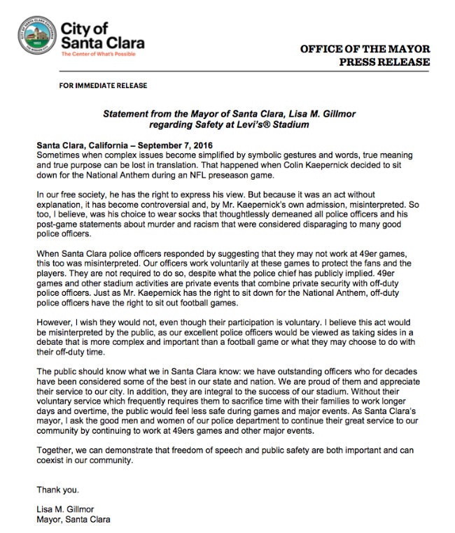 SCPOA Press Release mayor